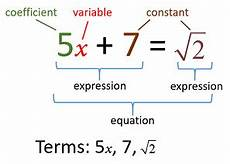 Terms In Algebra Algebraic Expressions Solutions Examples Videos