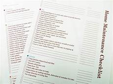 House Maintenance Checklist Printable Home Maintenance Checklist