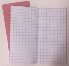 Graph Paper Book 2x 1cm Squared Exercise Sum Book Number Practice Graph