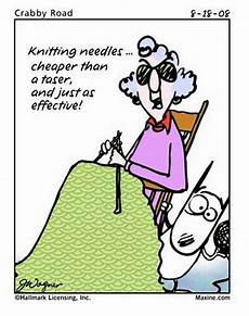 knit humor maxine knitting needles cheaper than a taser and just