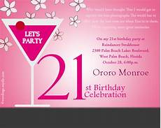 21 Bday Invites 21st Birthday Party Invitation Wording Wordings And Messages