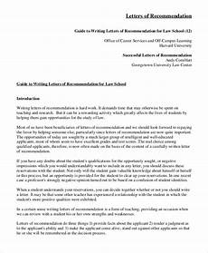 How To Write Law School Letter Of Recommendation Free 7 Sample Recommendation Letter Templates In Ms Word