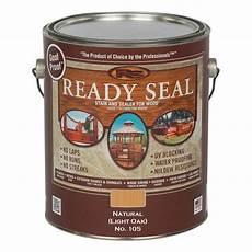 Light Oak Outdoor Wood Stain Ready Seal 1 Gal Light Oak Exterior Wood Stain And Sealer