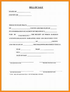 Bill Of Sale For Car In Texas 12 13 Auto Bill Of Sale Texas Template Lascazuelasphilly Com