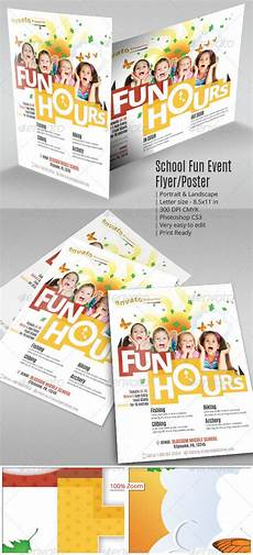 School Event Flyer School Fun Event Flyer Or Poster By Geon Graphicriver