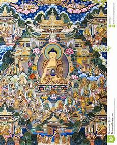 Tibetan Chart Tibetan Thangkas Buddha Wall Charts Stock Photo Image Of