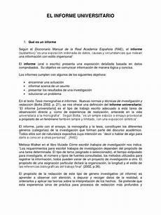Formato De Informe Escrito El Informe Universitario