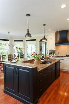 black kitchen islands stylish black island in traditional kitchen hgtv