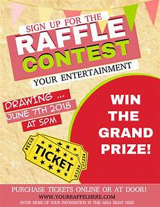 Raffle Ticket Poster Ideas Copy Of Raffle Postermywall