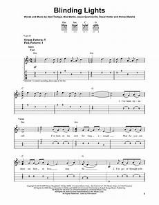 Bright Lights Chords Blinding Lights By The Weeknd Easy Guitar Tab Guitar