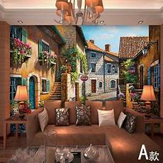 home decor wall murals european town mural wallpaper landscape wall murals