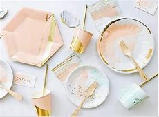 Blush Grey and Gold Napkins, Pink and Gold Party Napkins