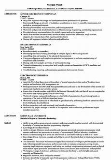 Electronic Technician Resumes Electronics Technician Job Description