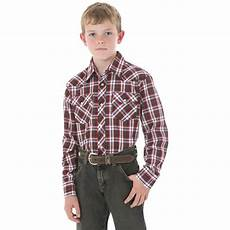 boy sleeve shirt wrangler boys sleeved dress western plaid shirt