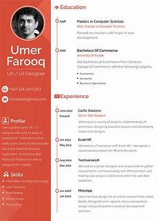 Resume Ux Designer Ux Designer Resume On Behance