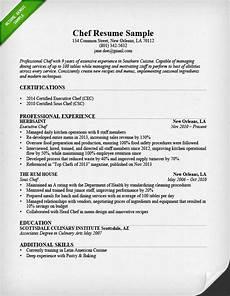 Chef Resumes Chef Resume Sample Amp Writing Guide Resume Genius