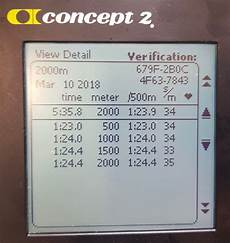 2k Erg Split Chart New 2k World Record 5 35 8 Concept2