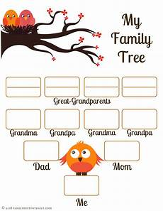 Printable Family Tree For Kids 4 Free Family Tree Templates For Genealogy Craft Or