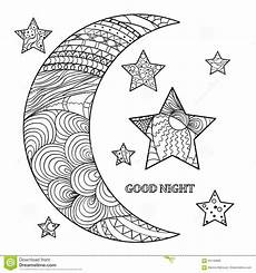 Moon And Stars Design Zentangle Moon And Star Design Zentangle Stock Vector