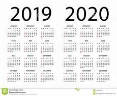 2020 16 Year Calendar Calendar 2019 2020 Illustration Week Starts On Sunday