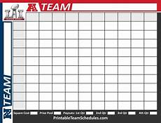 Football Square Template Super Bowl Squares Printable Template Print Here Http