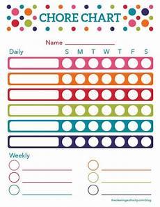 Daily And Weekly Chore Chart Free Printable Summer Chore Chart