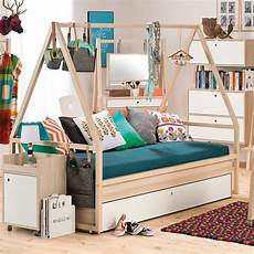 vox spot tipi bed frame with trundle drawer in