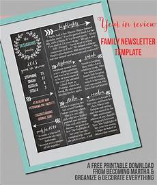 Holiday Family Newsletter Templates Family Newsletter Template The Simply Crafted Life