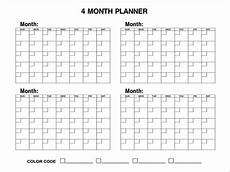 6 Month Calendar On One Page 4 Month Calendars Printable Blank Calendar Design 2017 6