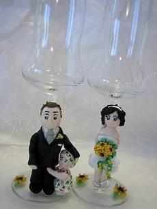 bicchieri decorati roberta creazioni e fantasia in pasta di mais e non