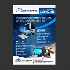 Computer Repair Flier Entry 11 By Natspearldesign For Design A Flyer For