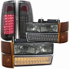 1995 Gmc Lights Gmc Sierra 1994 1998 Smoked Headlights Led Drl And Led