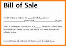 Bill Of Sale Example 5 Microsoft Word Templates Bill Of Sale Sample Travel Bill