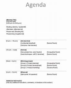 Business Agenda Format Agenda Template 12 Download Free Documents In Pdf