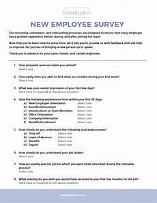 New Hire Orientation Surveys Resources Archives Louvellahr Member Site