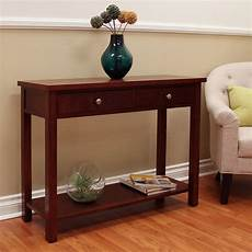 shop oakdale cherry console table overstock 11452158