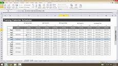 Making A Schedule In Excel 0515 Excel Demo Create A Training Calendar 3rd