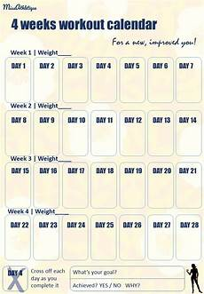 Yearly Workout Plan Your Own New Year S Fitness Workout Tracker Miss Athl 233 Tique