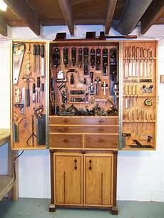 oak and walnut tool cabinet finewoodworking