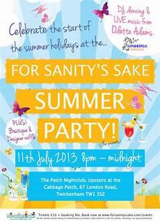 Reminder Flyer Event Reminder For Sanity S Sake Summer Party 11 July 2013