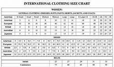 Pants Size Chart International Pants Size Chart