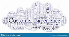 Another Word For Customer Experience Customer Experience Word Cloud Stock Illustration