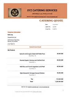 Free Catering Quote Template Catering Quote Template Pdf Templates Jotform
