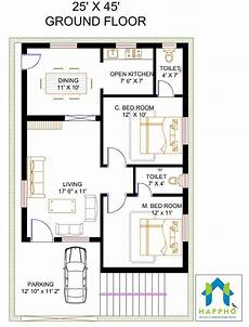2 bhk floor plans of 25 45 search bedroom house