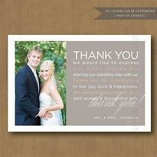 Wedding Thank You Card Examples Wedding Gift Thank You Card Wording Wedding Thank You