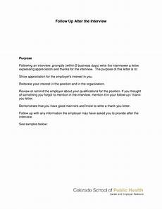 Follow Up Letter After Interview 2020 Follow Up Letter Templates Fillable Printable Pdf