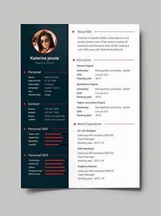 Create Cv For Free Free Professional Resume Cv Template Psd