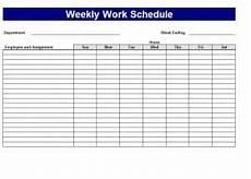 Work Schedule Creator Free 5 Free Work Schedule Templates Word Excel