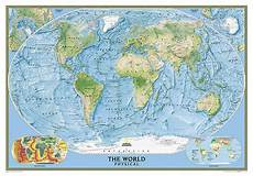 Geographic Map Buy World Physical Ocean Floor Enlarged And Laminated By