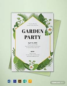 Garden Party Invites Free Garden Party Invitation Template Word Psd